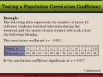 testing a population correlation coefficient14