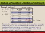 testing a population correlation coefficient15