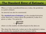 the standard error of estimate