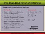 the standard error of estimate36
