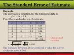 the standard error of estimate37