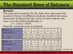 the standard error of estimate38