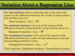 variation about a regression line33