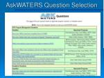 askwaters question selection