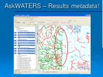 askwaters results metadata