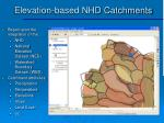elevation based nhd catchments