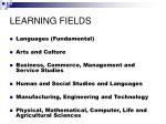 learning fields