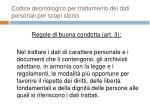codice deontologico per trattamento dei dati personali per scopi storici22