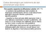codice deontologico per trattamento dei dati personali per scopi storici28