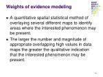 weights of evidence modeling