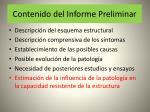 contenido del informe preliminar47
