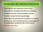 contenido del informe preliminar48