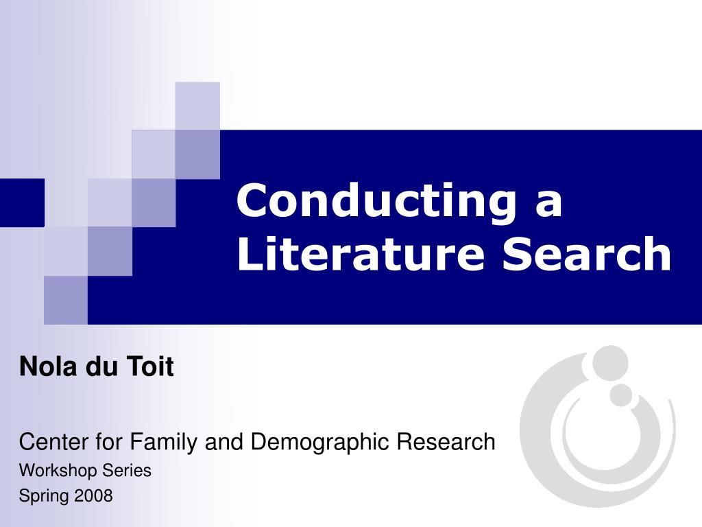 conducting a literature search l.