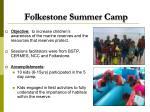 folkestone summer camp
