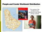 people and corals workbook distribution