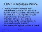 il caf un linguaggio comune