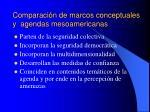 comparaci n de marcos conceptuales y agendas mesoamericanas