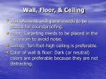 wall floor ceiling
