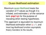 quasi likelihood estimation