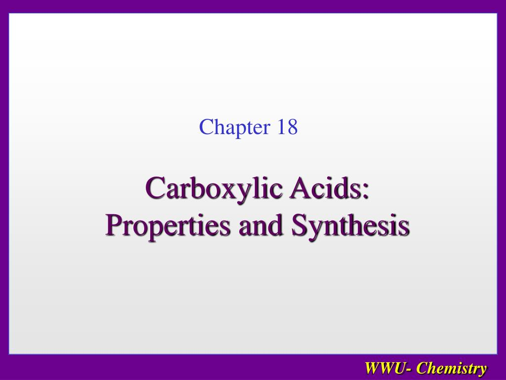 carboxylic acids properties and synthesis l.