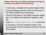 adding a new page and adding a background image to the mesa verde national park web page83
