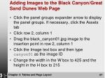 adding images to the black canyon great sand dunes web page