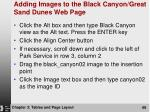 adding images to the black canyon great sand dunes web page68
