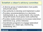 establish a citizen s advisory committee