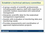 establish a technical advisory committee