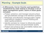 planning example goals