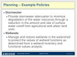 planning example policies
