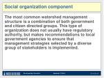 social organization component