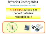 bater as recargables comparaci n costo 4 aa y 4 aaa