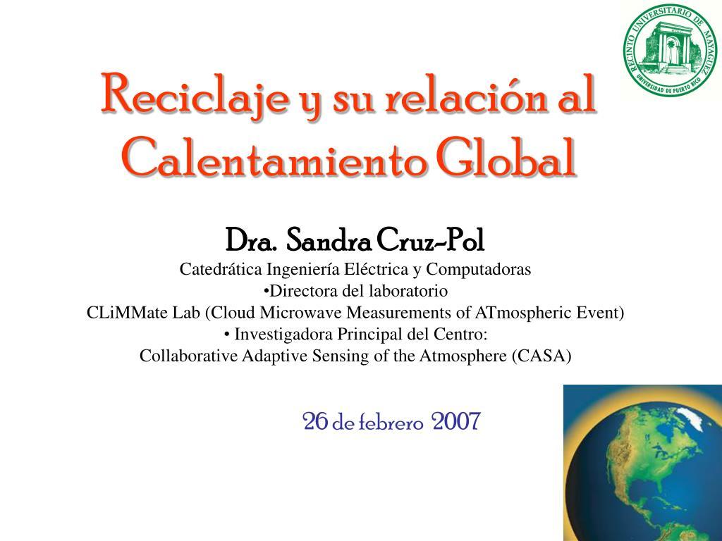 reciclaje y su relaci n al calentamiento global l.