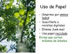 uso de papel