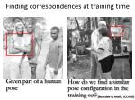 finding correspondences at training time