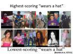 highest scoring wears a hat