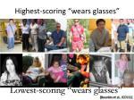 highest scoring wears glasses