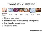 training poselet classifiers
