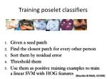 training poselet classifiers10