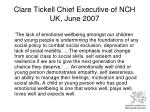 clare tickell chief executive of nch uk june 2007