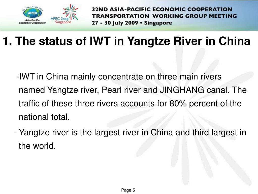 1. The status of IWT in