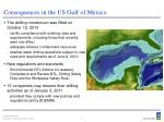 consequences in the us gulf of mexico