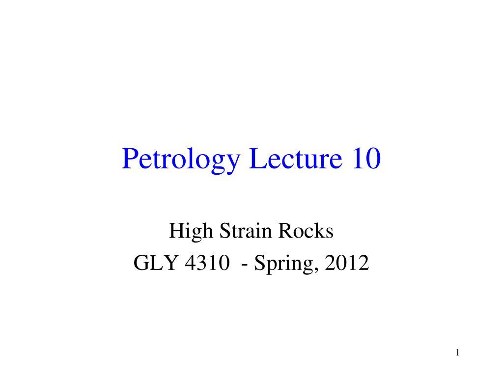 petrology lecture 10 l.