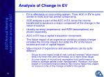 analysis of change in ev