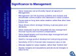 significance to management