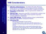 vnb considerations