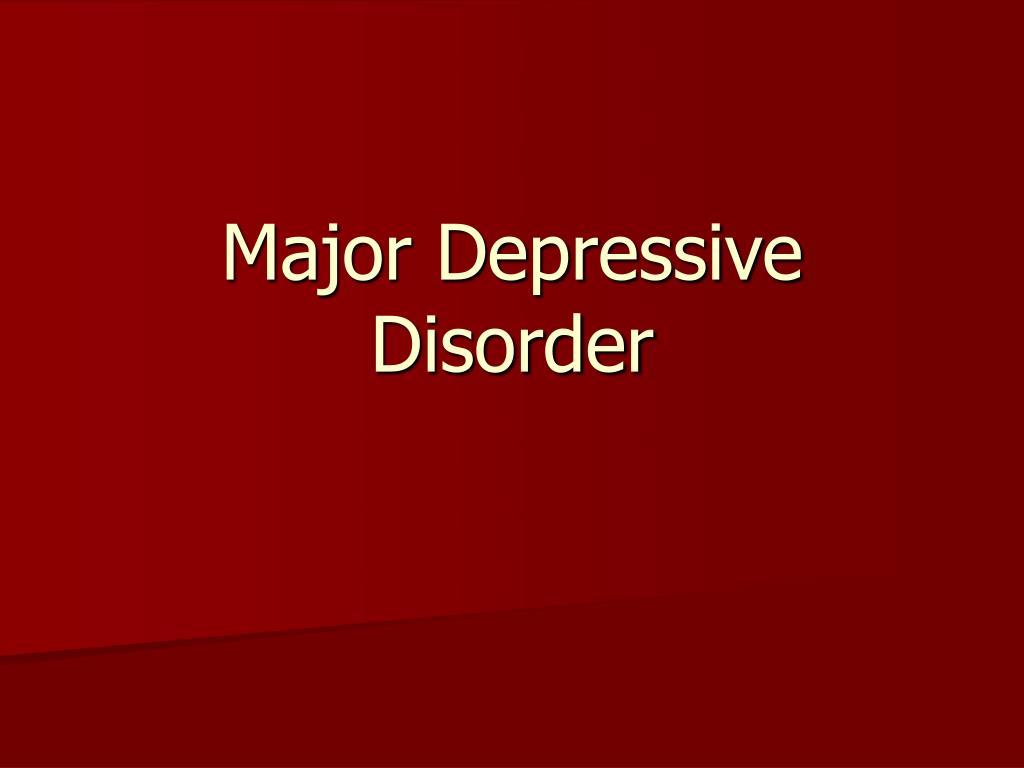 major depressive disorder l.