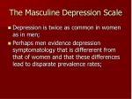 the masculine depression scale