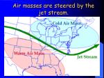air masses are steered by the jet stream